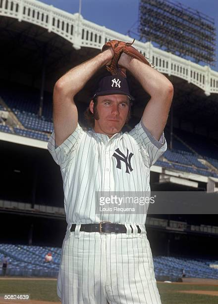 Sparky Lyle of the New York Yankees poses for a portrait at Yankee Stadium in the Bronx New York Lyle played for the Yankees from 19721978