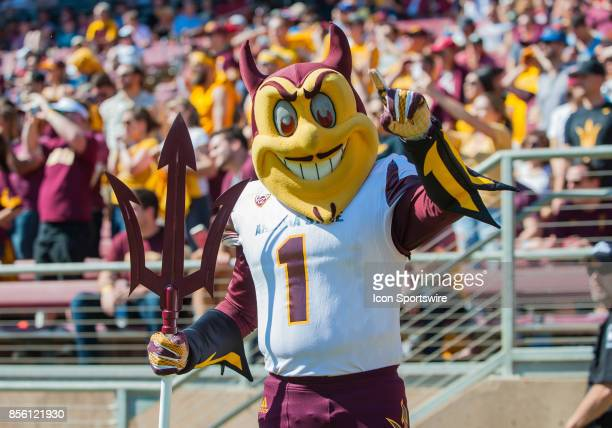 Sparky the Arizona State Sun Devils mascot during the regular season PAC12 game between the Stanford Cardinal and the Arizona State Sun Devils on...