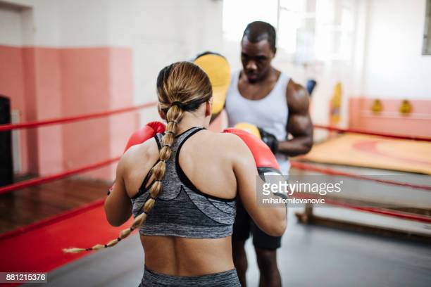 sparring time - combat sport stock photos and pictures