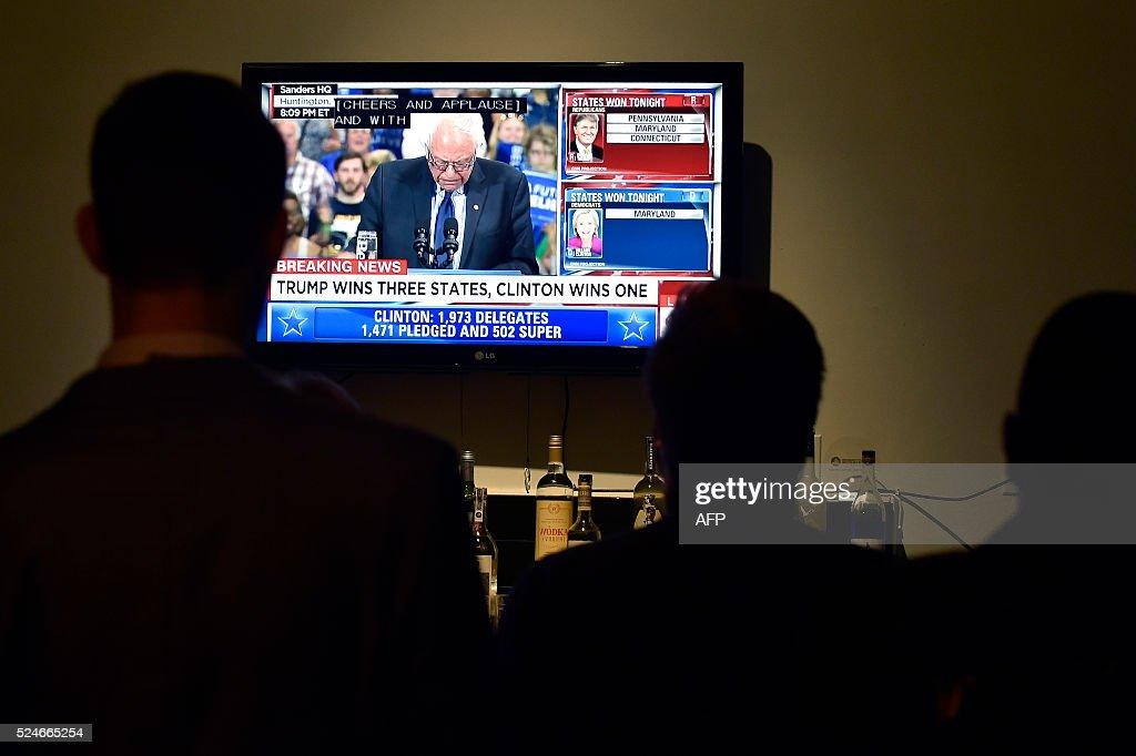 US-VOTE-PRIMARY-MARYLAND : News Photo