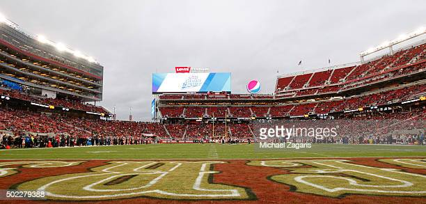 Sparse crowd watches the second half of the game between the San Francisco 49ers and the Cincinnati Bengals at Levi Stadium on December 20, 2015 in...