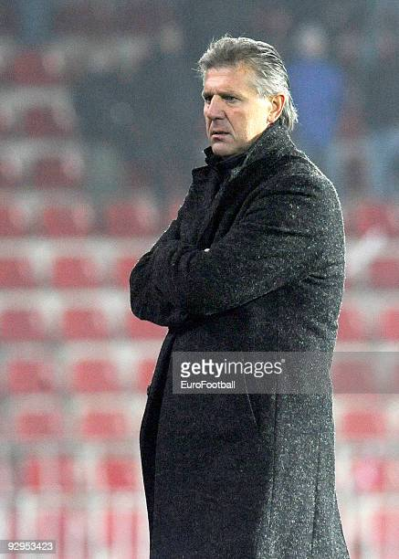 Sparta Praha manager Jozef Chovanec during the Gambrinus Liga match between AC Sparta Praha and FC Banik Ostrava held on October 31, 2009 at the...