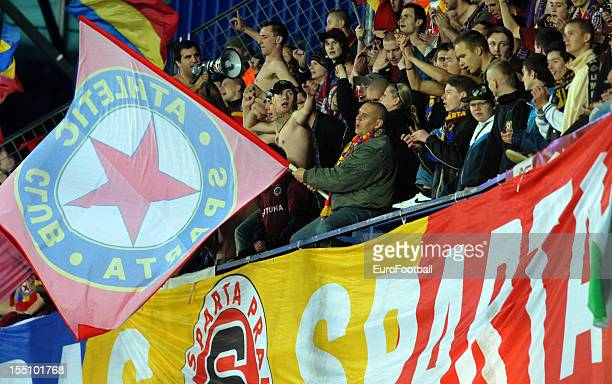 Sparta Praha supporters during the UEFA Europa League group stage match between AC Sparta Praha and Hapoel Kiryat Shmona FC held on October 25 2012...