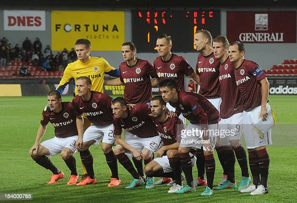 Sparta Praha team group taken prior to the UEFA Europa League group stage match between AC Sparta Praha and Athletic Club held on October 4 2012 at...