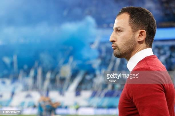 Spartak Moscow head coach Domenico Tedesco looks on during the Russian Premier League match between FC Zenit Saint Petersburg and FC Spartak Moscow...