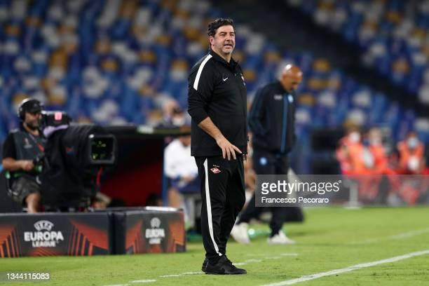 Spartak Moskva coach Rui Vitoria during the UEFA Europa League group C match between SSC Napoli and Spartak Moskva at Stadio Diego Armando Maradona...
