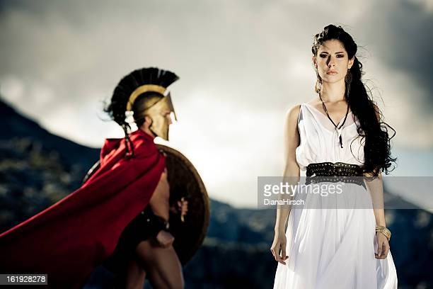 spartan queen - classical greek style stock pictures, royalty-free photos & images