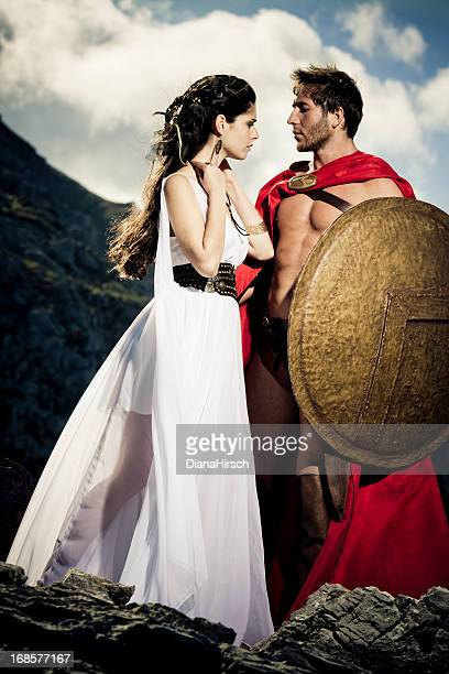 spartan queen taking leave of her man