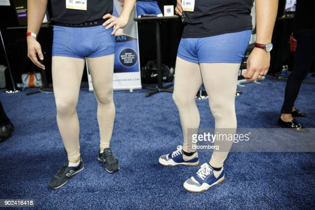 Spartan SAS radiationblocking boxer briefs are worn by attendees during the CES Unveiled event at the 2018 Consumer Electronics Show in Las Vegas...
