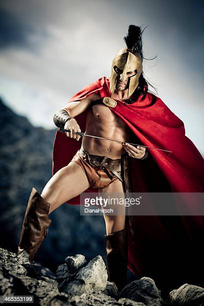 spartan with sword in the hands