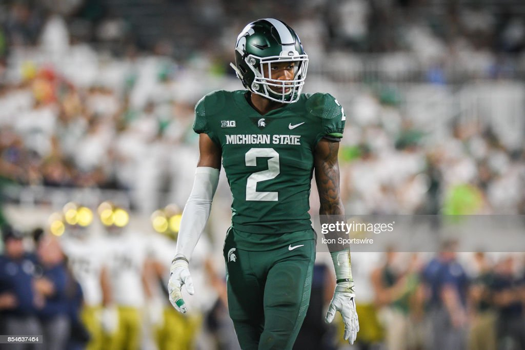 COLLEGE FOOTBALL: SEP 23 Notre Dame at Michigan State : News Photo