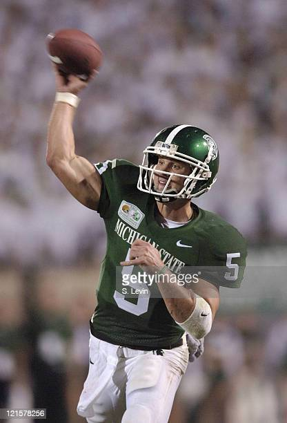 Spartans quarterback Drew Stanton during the game between the Michigan State Spartans and the Notre Dame Fighting Irish at Spartan Stadium in East...