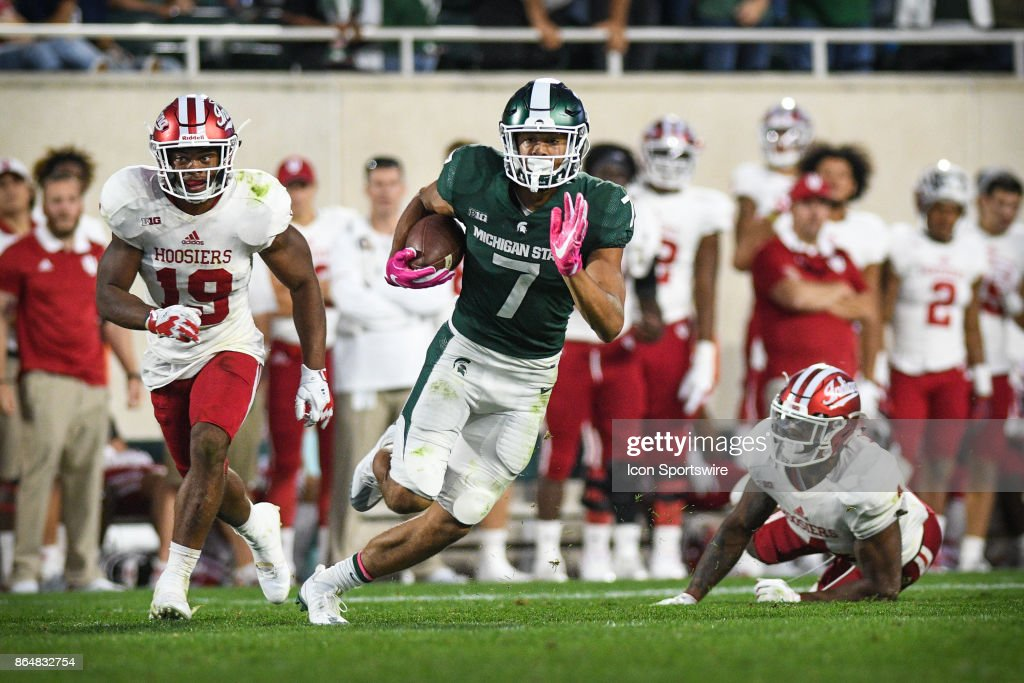 COLLEGE FOOTBALL: OCT 21 Indiana at Michigan State : News Photo