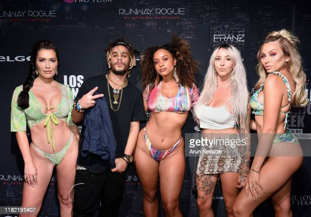 Sparxx Maryam Khloe Terae Daviinci and Ohhui Tiffany backstage during Los Angeles Fashion Week SS/20 Powered by Art Hearts Fashion Day 3 on October...