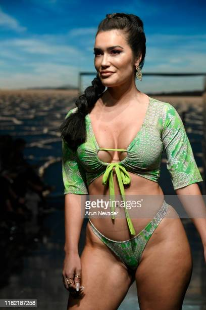 Sparxx walks the runway wearing Lila Nikole during Los Angeles Fashion Week SS/20 Powered by Art Hearts Fashion on October 19 2019 in Los Angeles...