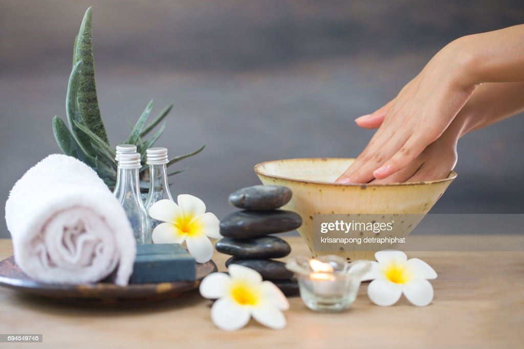 Spas, flowers and candles : ストックフォト