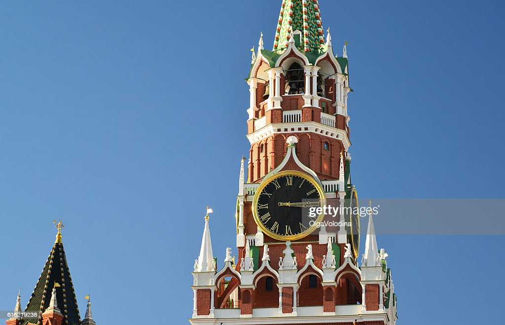 Spasskaya  tower of Moscow Kremlin, Russia : Stock Photo