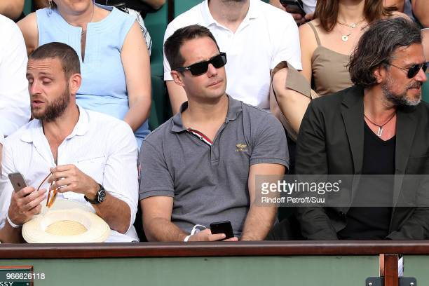 Spationaut Thomas Pesquet attends the 2018 French Open Day Eight at Roland Garros on June 3 2018 in Paris France
