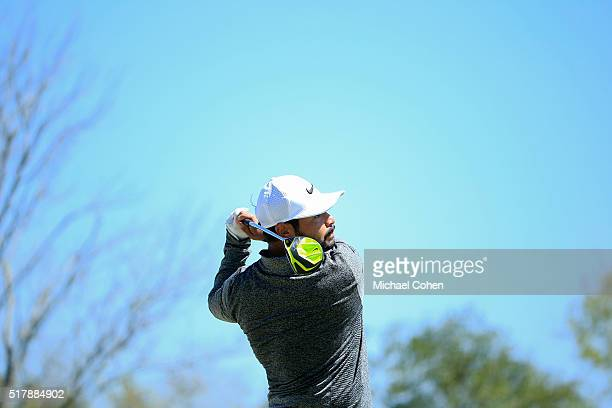 J Spaun hits a drive during the final round of the Chitimacha Louisiana Open presented by NACHER held at Le Triomphe Golf and Country Club on March...