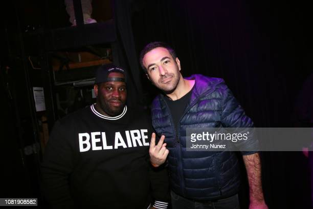 Spazo and journalist Ari Melber attend Dave East In Concert at Irving Plaza on January 12 2019 in New York City