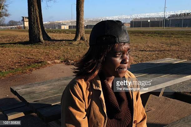 Feb 24 2008 PLACE Canton TX CREDIT jahi chikwendiu/twp Gail Dotson pictured near the Texas prison that holds her son is the mother of Carlton Dotson...