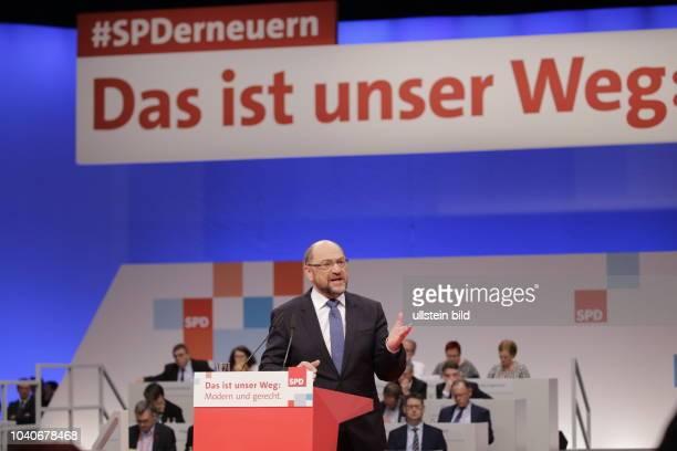 SPDVorsitzende Martin Schulz Deutschland Berlin Ordentlicher SPDBundesparteitag