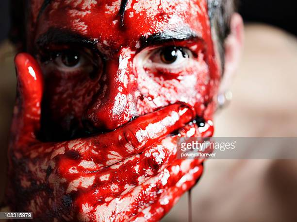 speak no evil - human blood stock pictures, royalty-free photos & images