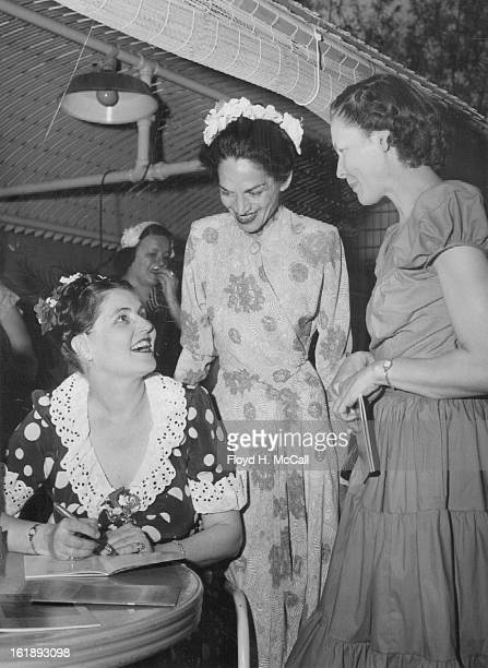 JUN 12 1953 JUN 21 1953 Speaker at the garden party was Miss Caroline Bancroft who autographed copies of her books after the program for Mrs Clive...