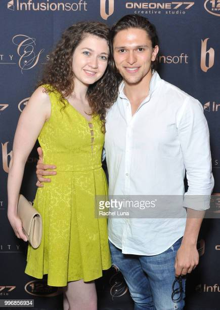 Speaker Hassan Bash and fiance Marietta Melrose attend City Summit Wealth Mastery And Mindset Edition afterparty at Allure Banquet Catering on July...