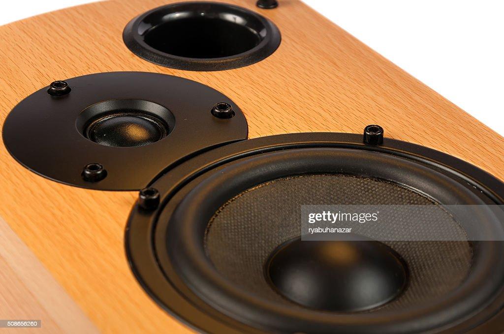 Speaker isolated on white background : Stock Photo