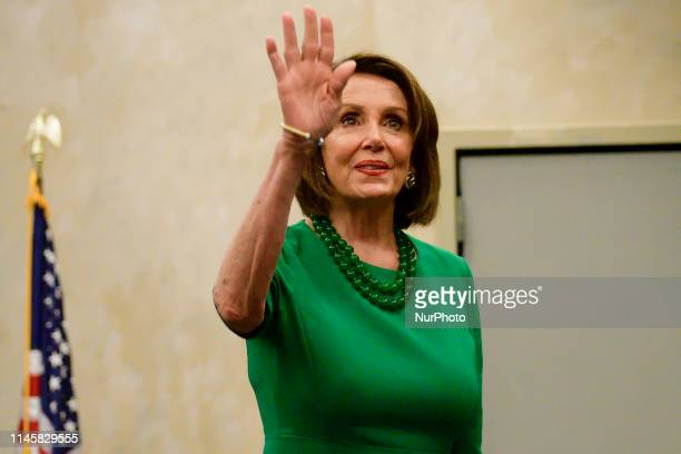 Speaker Nancy Pelosi attends a forum on education at Delaware County College in Media PA on May 24 2019