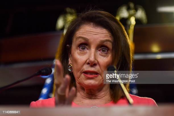 Speaker Nancy Pelosi holds he weekly press conference that included issues related to Attorney General William Barr who refused to testify before the...