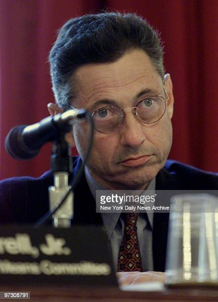 Speaker of the Assembly Sheldon Silver at hearing on MTA funding and fare hikes in Manhattan