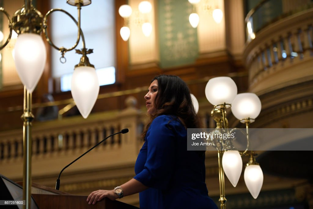 Speaker of the House Crisanta Duran as the roll is called at the Capitol for a legislative special session to fix a bill-drafting error that has been costing Denver-based institutions hundreds of thousands of dollars a month in marijuana revenue. Denver, CO.
