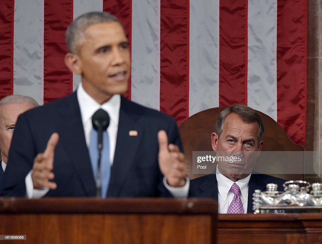 President Obama Delivers State Of The Union Address : News Photo