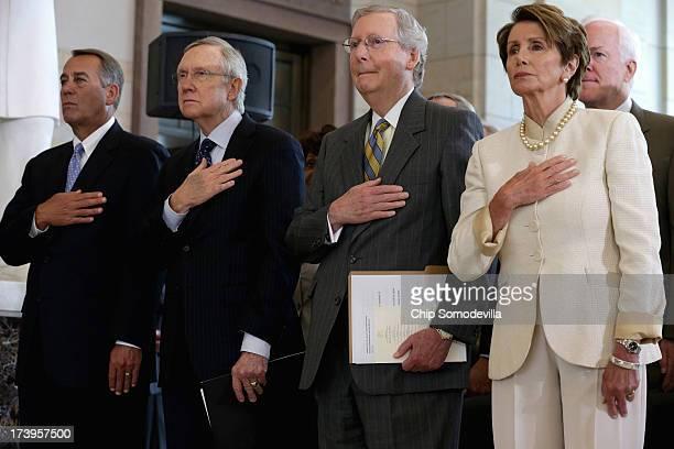 Speaker of the House John Boehner Senate Majority Leader Harry Reid Senate Minority Leader Mitch McConnell House Minority Leader Rep Nancy Pelosi and...
