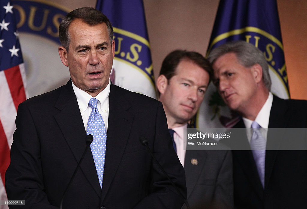 Boehner, GOP Leaders Speak To Press At Capitol