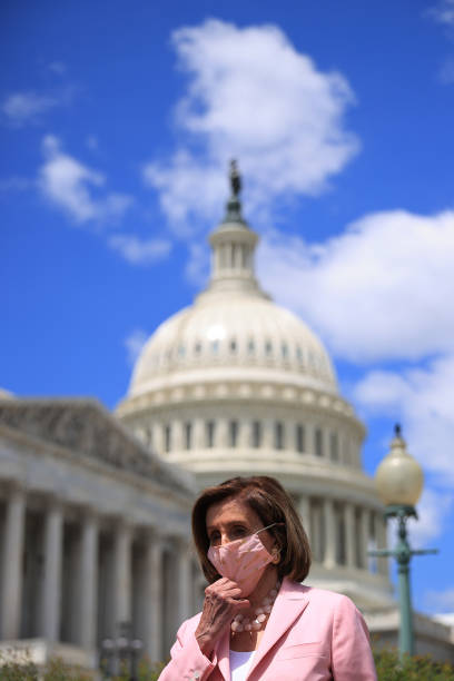 DC: Speaker Pelosi Holds News Conference On Infrastructure Legislation