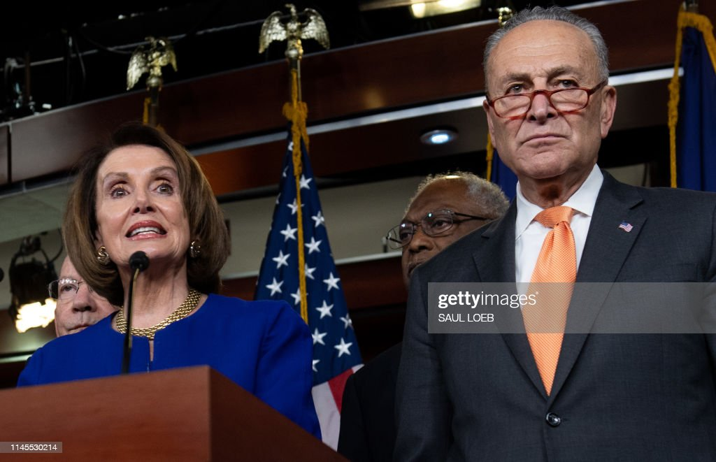 DC: Speaker Pelosi And Senate Democratic Leader Sen. Schumer Speak On Capitol Hill After President Trump Speaks On Mueller Report