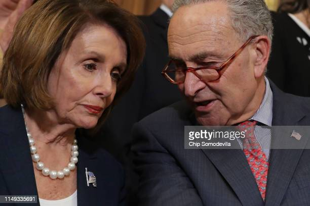 Speaker of the House Nancy Pelosi and Senate Minority Leader Charles Schumer lead a rally and news conference ahead of a House vote on health care...