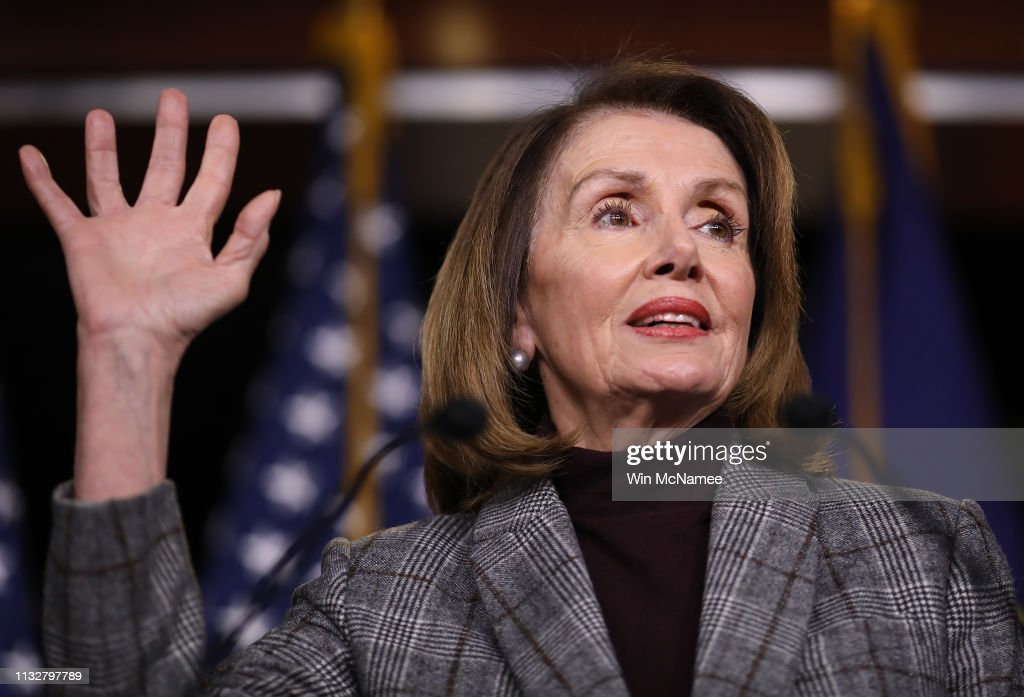 Speaker Nancy Pelosi Addresses The Media At Weekly Press Conference : News Photo