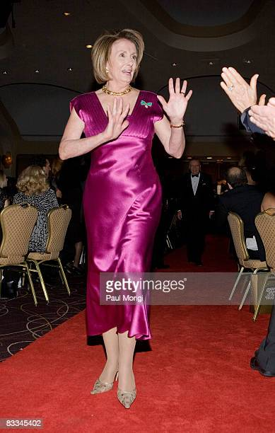 Speaker of the House Nancy Pelosi arrives at the National Italian American Foundation 33rd Anniversary Awards at the Hilton Washington and Towers on...