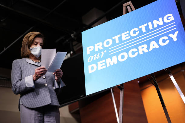 DC: Speaker Pelosi Holds News Conference To Discuss Protecting Our Democracy Act