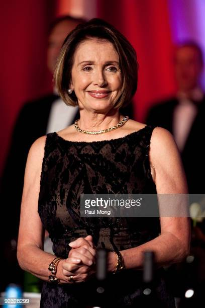 S Speaker of the House Nancy Pelosi attends The National Italian American Foundation's 34th Anniversary Awards Gala at the Hilton Hotel on October 24...