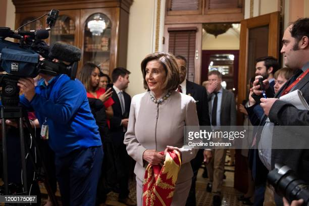 Speaker of the House Nancy Pelosi DCalif center whose favorite team the San Francisco 49ers lost the Super Bowl to the Kansas City Chiefs represented...