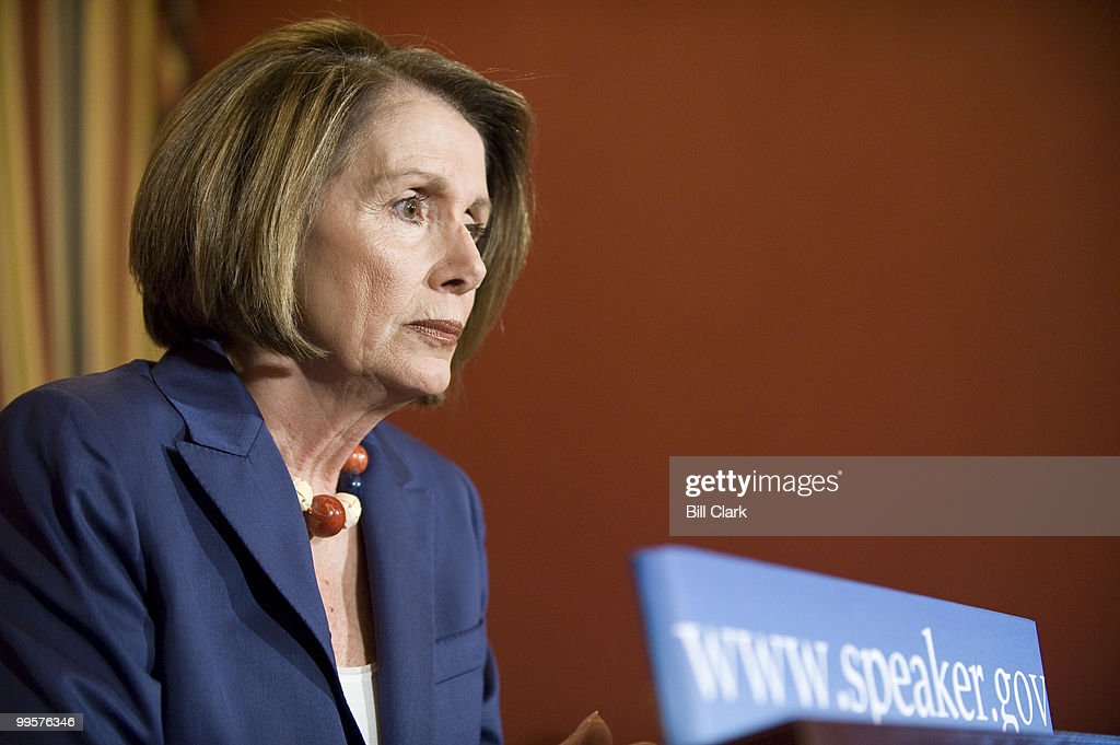Speaker of the House Nancy Pelosi, D-Calif., holds her weekly news conference in the U.S. Capitol on Thursday, June 11, 2009.