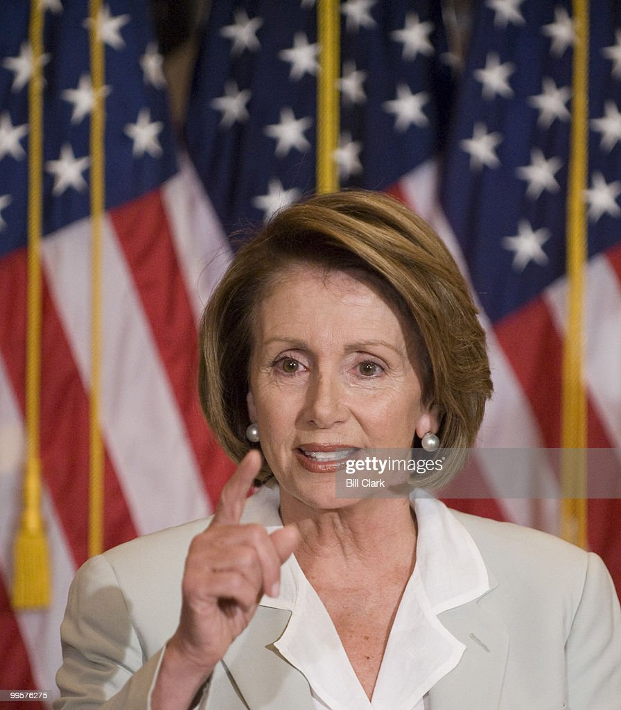 Speaker of the House Nancy Pelosi, D-Calif., holds her weekly news conference on Thursday, July 31, 2008.