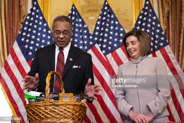Speaker of the House Nancy Pelosi DCalif right whose favorite team the San Francisco 49ers lost the Super Bowl to the Kansas City Chiefs represented...