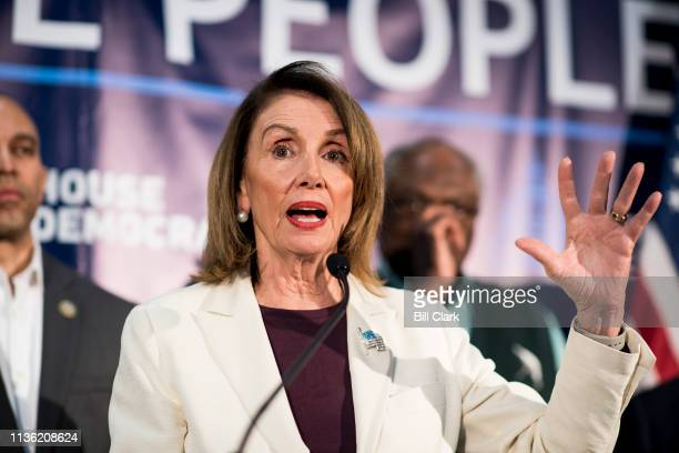 Speaker of the House Nancy Pelosi DCalifspeaks at the House Democrats' 2019 Issues Conference opening press conference at the Landsdowne Resort and...