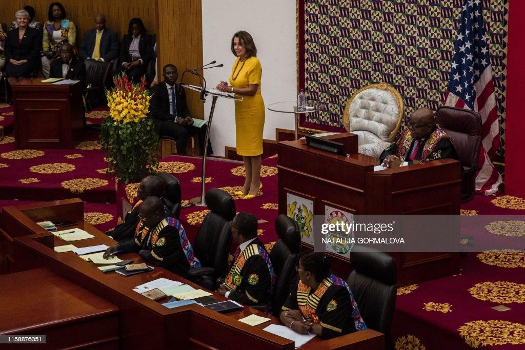 GHANA-US-HISTORY-DIPLOMACY-POLITICS-SLAVERY : News Photo